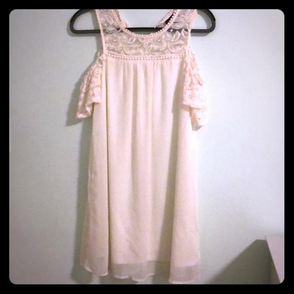 As U Wish Dresses & Skirts - As U Wish White Cold Shoulder Lace Dress